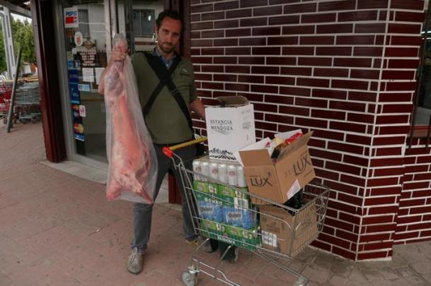 The provisions are bought for a month without a supermarket