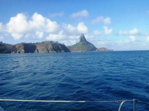 Approaching Fernando do Noronha - the Galapagos of Brasil, 200 miles into the Atlantic off the northeast tip of Brazil and one of the world's great landfalls