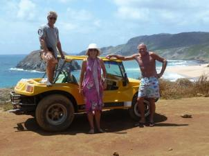 Our hired means of transport on the island - the Yellow Peril