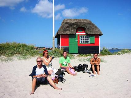 … even the beach huts are thatched!