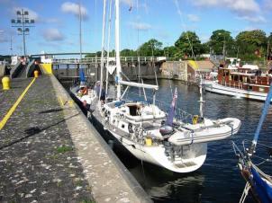 The east lock of the Kiel Canal