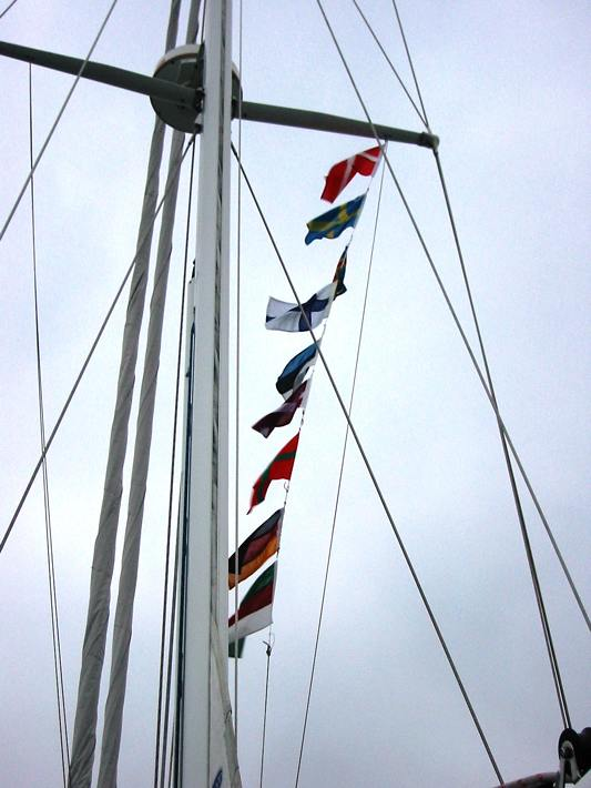 Mina2's courtesy flags of this year's cruise