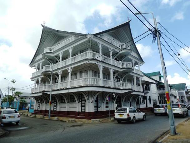 The town centre of Paramaribo is full of old wooden Dutch colonial buildings which are now protected as a UN World Heritage Site