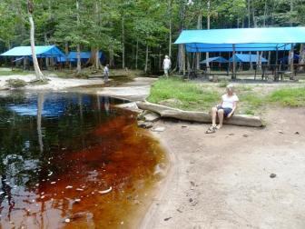 Black water pond