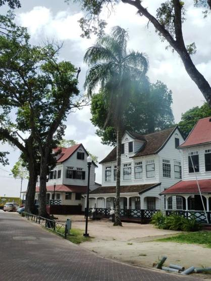 Old Dutch colonial buildings in Paramaribo