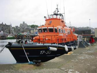 The Shetland lifeboat in Lerwick