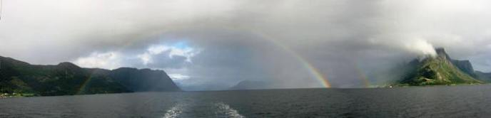 Spectacular rainbow - the intensity of the colours was incredible